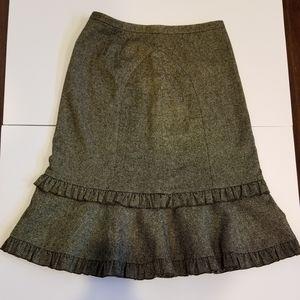 Ann Taylor Loft Ruffle Skirt Size 4